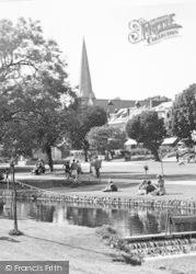 Church From The Gardens c.1955, Dawlish