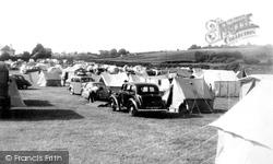 Lady's Mile Farm Camping Site c.1960, Dawlish