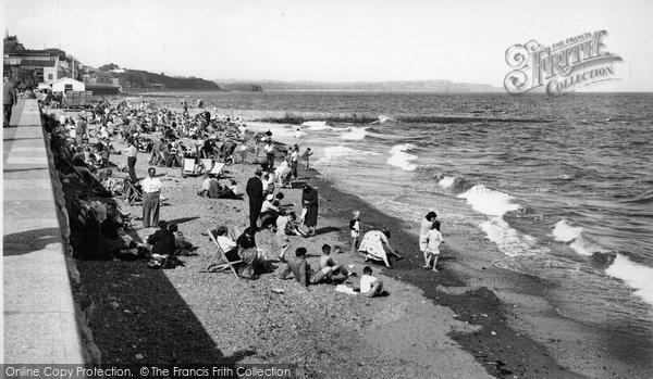 Photo of Dawlish, The Beach And Promenade c.1955