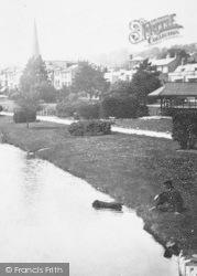 The Lawns, A Man And A Dog 1903, Dawlish