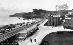 Dawlish, The Seafront From The Royal Hotel 1890
