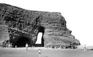 Dawlish Warren, the Red Rock Arch c1955
