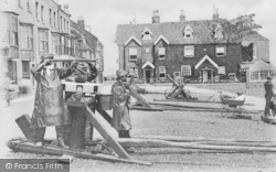 Deal, Boat Winch And Fishermen c.1900