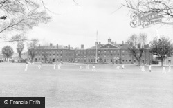 Deal, Royal Marines Depot, Cricket On The South Green c.1960