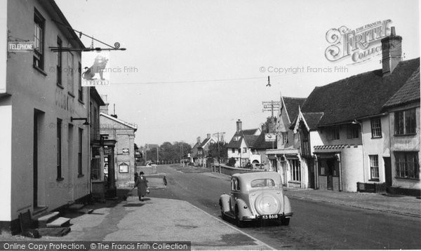 Debenham, High Street c1955.  (Neg. D121021)  © Copyright The Francis Frith Collection 2008. http://www.francisfrith.com