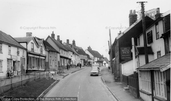 Debenham, High Street c1965.  (Neg. D121047)  © Copyright The Francis Frith Collection 2008. http://www.francisfrith.com