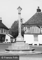 Dedham, War Memorial and the Marlborough Head c1965