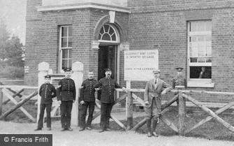 Deepcut, Blackdown Camp, Soldiers at the 2nd Brigade Office 1906