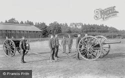 Deepcut Camp, Gun Drill 'in Action' 1906, Deepcut