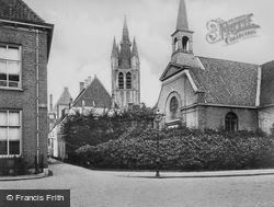 Phoenixstraat, Oude Kerk And Armenkerk c.1920, Delft