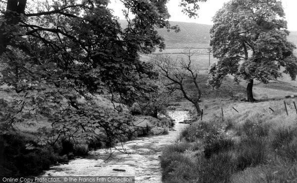 Delph, the Waterfall, Pingle c1955