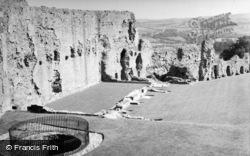 Denbigh, Castle, The East Curtain Wall And Well 1952