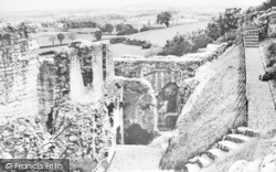 Denbigh, Castle Walls c.1960