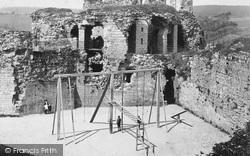 Denbigh, Climbing Frame In The Castle 1888