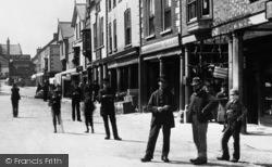 Denbigh, Men In The Market Place 1888
