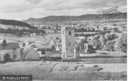 Denbigh, St Hilary's Church Tower And Vale Of Clwyd c.1960