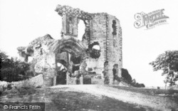 Denbigh, The Castle c.1872
