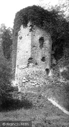 Denbigh, The Castle, Goblin Tower c.1885