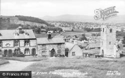 Denbigh, View From The Castle c.1955