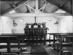 Denby Dale, Interior Of Catholic Chapel c.1955