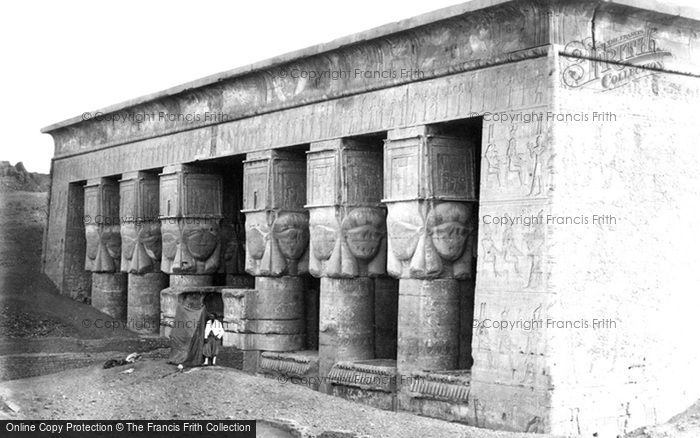 Photo of Dendera, Portico Of The Temple 1860