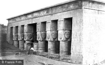 Dendera, Portico of the Temple 1860