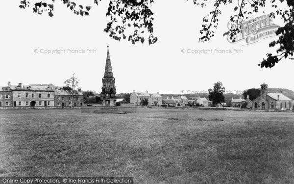 Photo of Denholm, Hawick Green And John Leydon Memorial c.1955