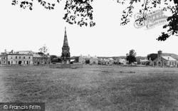 Denholm, Hawick Green And John Leydon Memorial c.1955