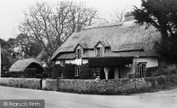 Denmead, A Thatched Cottage c.1955