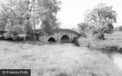 Denstone, The Churnet Bridge c.1965