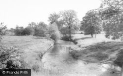Denstone, The River Churnet c.1965
