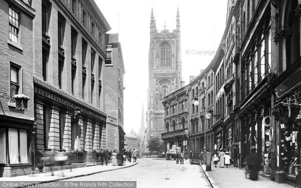 Derby, Iron Gate And All Saints' Church 1896