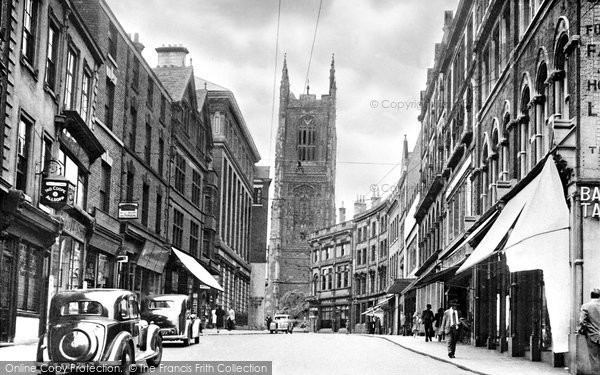 Photo of Derby, Iron Gate And The Cathedral c.1955