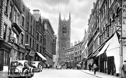 Derby, Iron Gate And The Cathedral c.1955