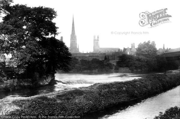 Photo of Derby, On The Derwent 1896