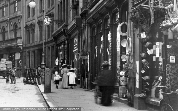 Photo of Derby, Shops In Iron Gate 1896