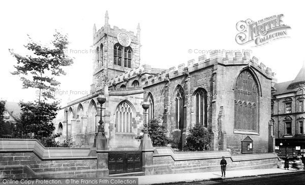Photo of Derby, St Peter's Church 1896