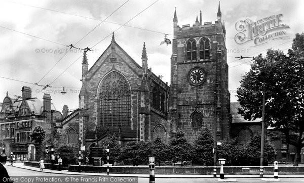 Photo of Derby, St Werburgh's Church c.1955