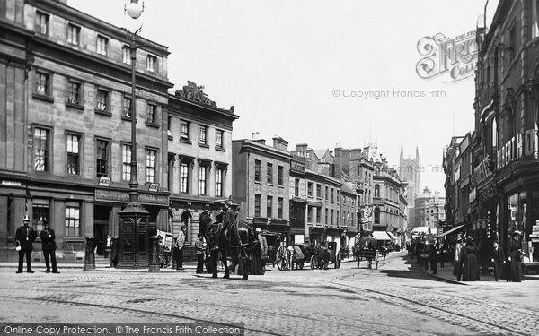 Photo of Derby, The Cornmarket 1896