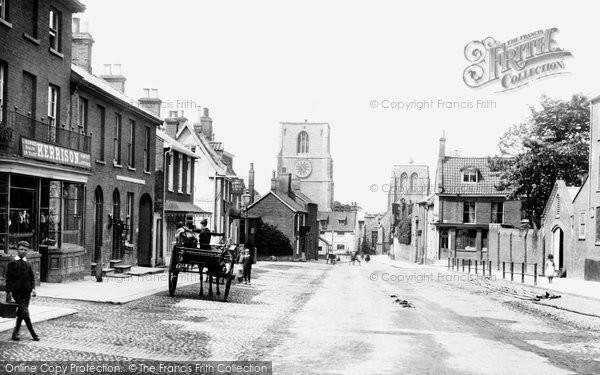 Photo of Dereham, Church Street 1893
