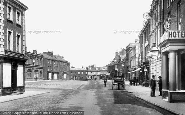Photo of Dereham, Market Place 1893