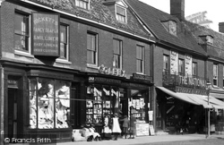 Shops In The Market Place 1898, Dereham