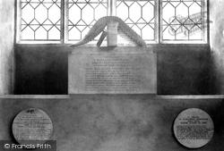 St Nicholas's Church, The Cowper Monument 1901, Dereham