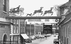 The Town Sign, St Withburga And The Deer c.1955, Dereham