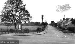 Memorial And Station Road c.1965, Dersingham
