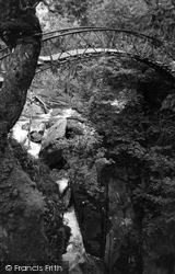 Iron Bridge c.1955, Devil's Bridge