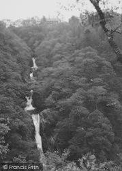 Mynach Falls And The Hotel c.1955, Devil's Bridge