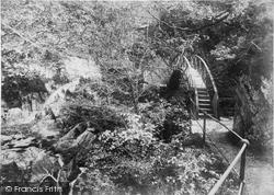 Devil's Bridge, The Circular Bridge c.1890