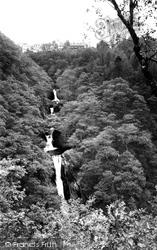 Devils Bridge, Mynach Falls c.1955