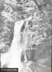 Devils Bridge, Mynach Falls c.1960